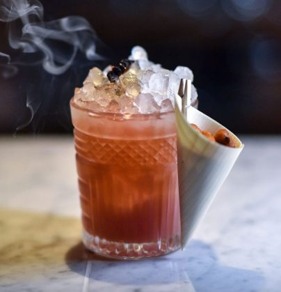 smoking house cocktail at il pampero bar
